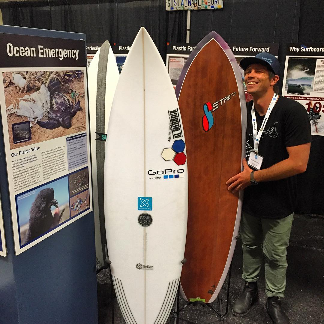 It's standing room only at the SSurf booth at the @boardroomshow today in #DelMar !  Swing on by to see the latest in more sustainable surfboard technologies being used by the world's best surfboard shapers and builders !  And while you're there, find...