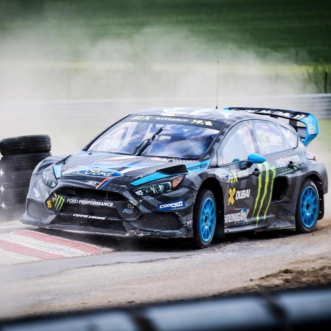 The new guy @andreasbakkerud putting down some fast times at @fiaworldrx round 3 but some development issues caused major setbacks, but, that's racing.