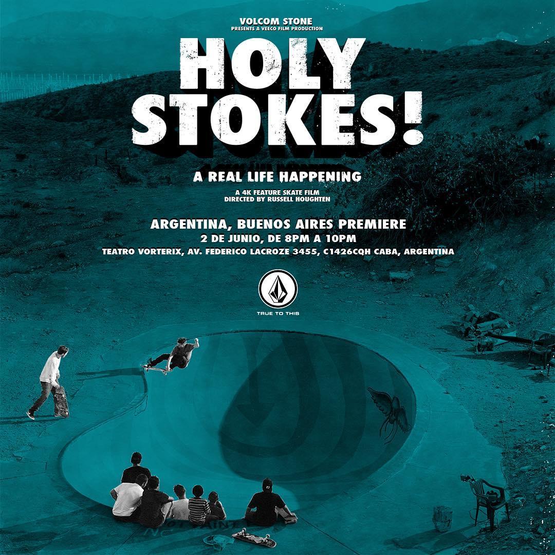 Se viene la #Premiere Argentina de #HolyStokes queres venir?