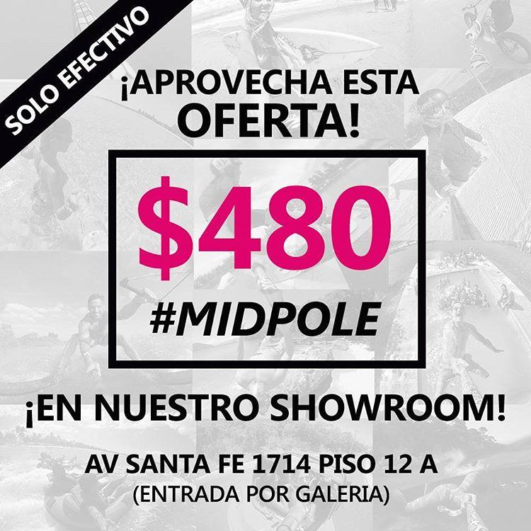 No te pierdas esta oportunidad! Mañana 11/05 pasate por el showroom y llevate un #MidPole a $480!