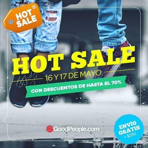 Este lunes y martes 16 y 17 de Mayo aprovecha el Hot Sale en @goodpeoplearg con descuentos increibles. Hace click en el link de nuestra biografía para comprar.