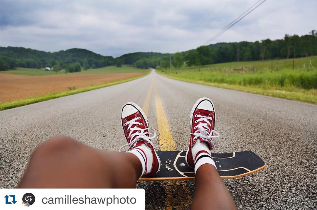 #Repost @camilleshawphoto with @repostapp. ・・・ I wish we took more time to skate these rolling hills, but we'll be back! |  #tennessee #nashville #music #sparta #skate #carverskate #carvergirls #gatlinburg #mountain #camp  #exploretennessee...