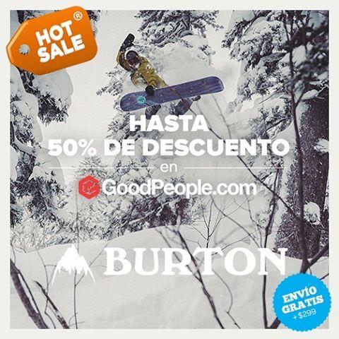 Hoy y mañana aprovecha el Hot Sale en GoodPeople.com con descuentos increibles. Hace click acá: http://bit.ly/1ZMXrhI para ver las ofertas. @goodpeoplecom @burtonargentina #mejorBurton