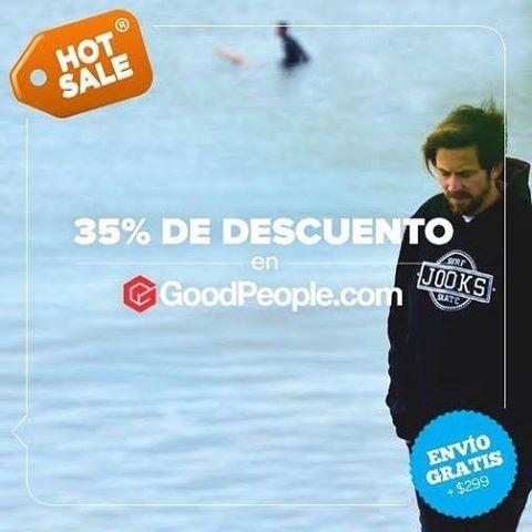Hoy lunes 16 y martes 17 de Mayo aprovecha el Hot Sale en GoodPeople.com con descuentos increíbles. Hace click acá http://bit.ly/1Wv62r7 para comprar. #hotsale #tiendaonline #jooks #surf #skateboarding #snowboard #skate #skateboard #shop #goodpeople