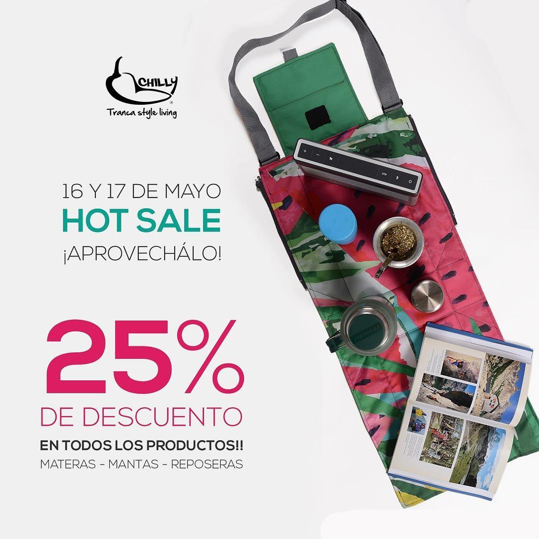 #HotSale 2016!! 25% DE DESCUENTO en todos los productos #CHILLY Del 16 y 17 de mayo, aprovechálos!! Comprando en nuestra tienda online! ► www.chillydesign.com.ar