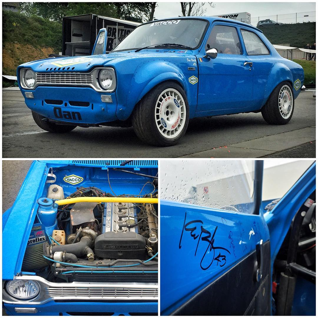 Another fine example of grass-roots rallycross here in Belgium: a 70s Ford Escort Mk1, built with an Escort Cosworth engine and all wheel drive system! Amazing. I reeeeeally need one of these in my life! Ha. #Mk1dreams #FordEscortMk1