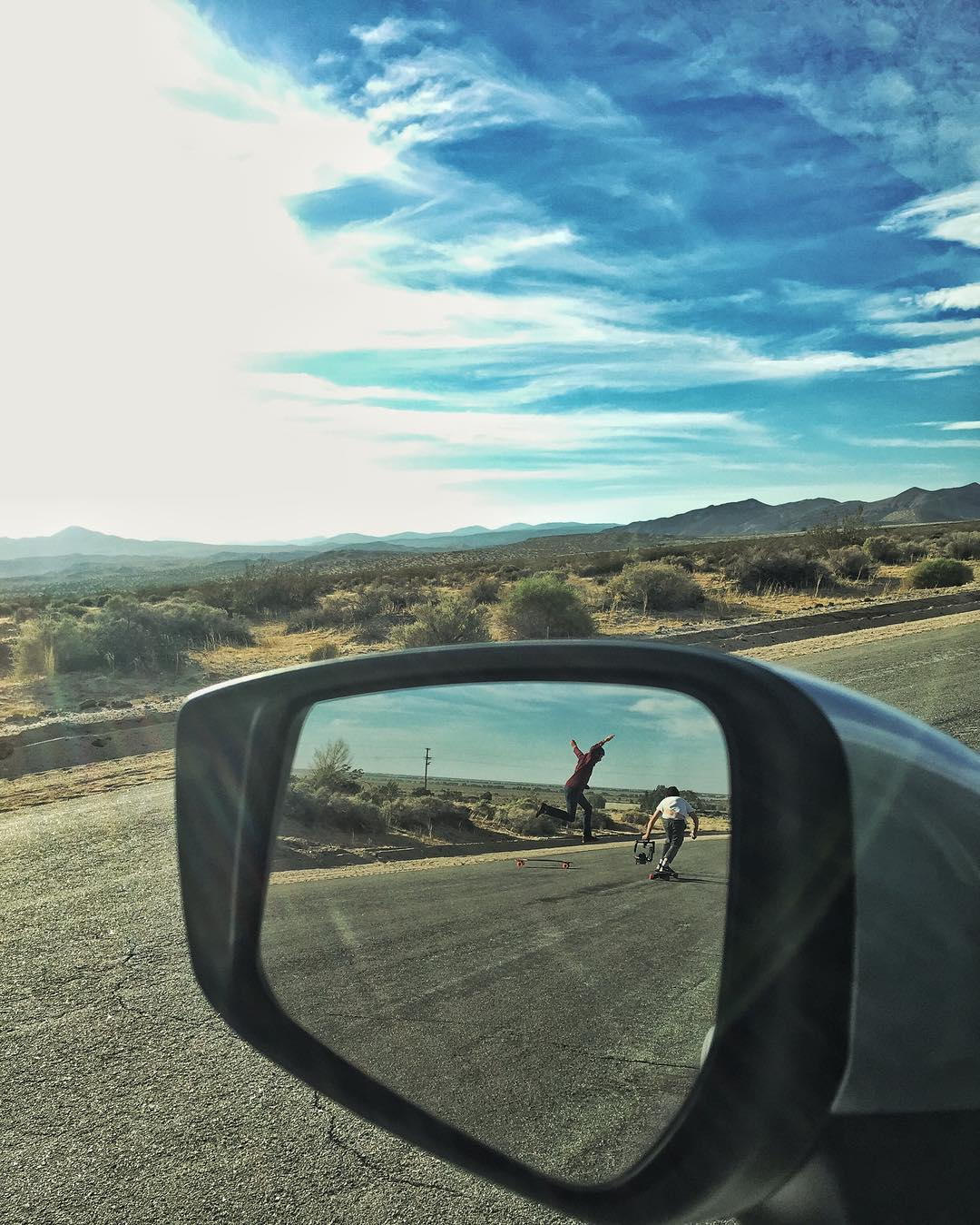 #OrangatangAmbassador @adamstokowski floating for @perropro's camera in the hot desert