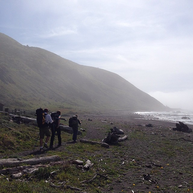 Incredible weekend hiking the #lostcoast with @rosebettrys @rachshredgnar @chrisbtanner such a special place, can't wait to go back #beefstroganoff #rasberrycrumble