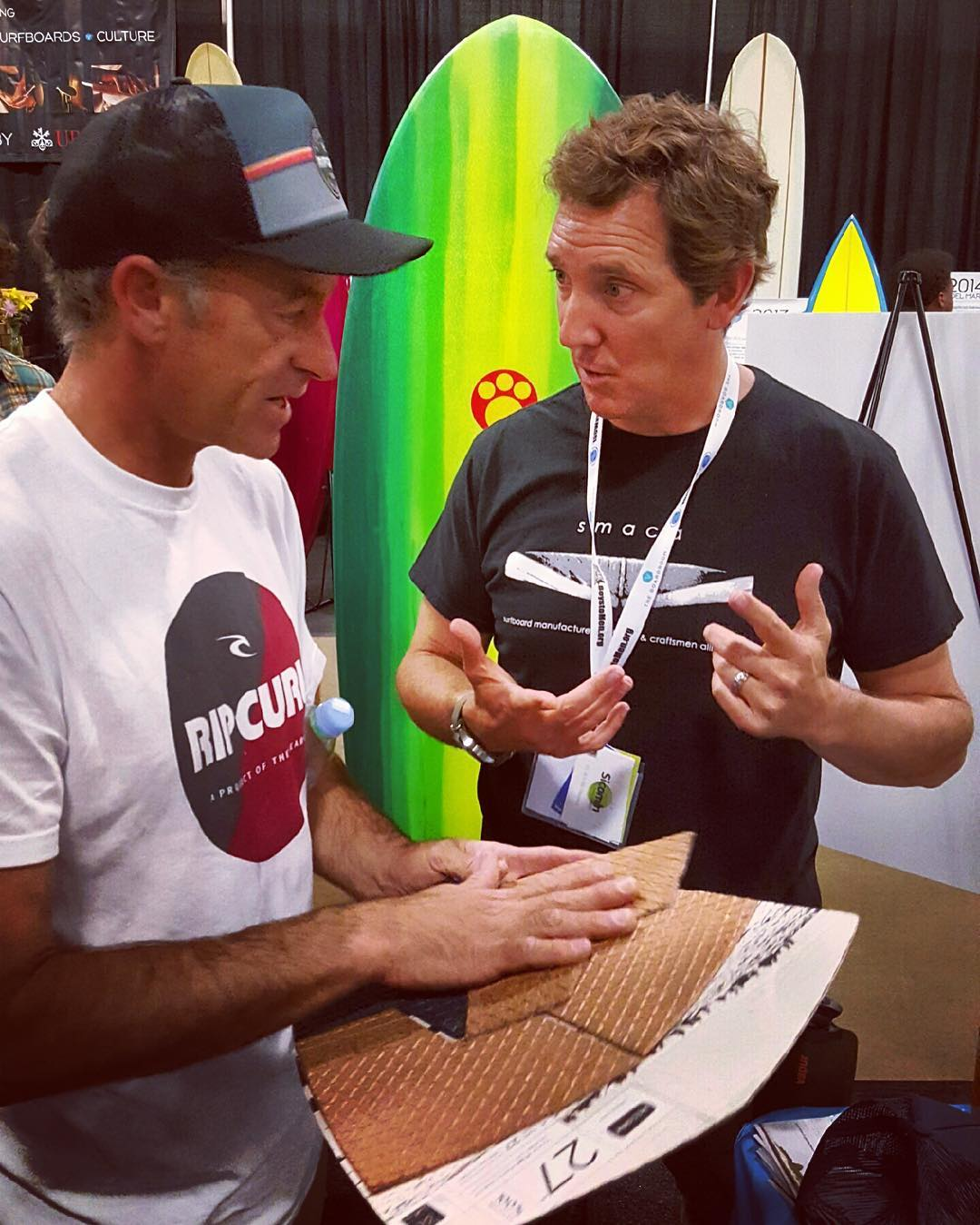Not sure why...but our @boardroomshow booth always seems to get really #crowded when ambassador #TomCurren  @curfuffle  stops by to check out what we are up to next