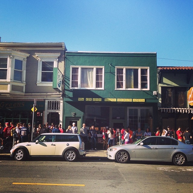 Game day lines in SF prebar opening