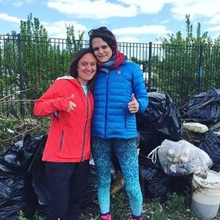 "MINDFUL MONDAY  River clean up #mindfulmay #repost @whoamagwhoa ""This is Elie (photo left, creater of @todo4earth) and Hatie, our founder, in front of some of the mountain of trash we helped remove from the Chicago River yesterday! Over 164 people..."