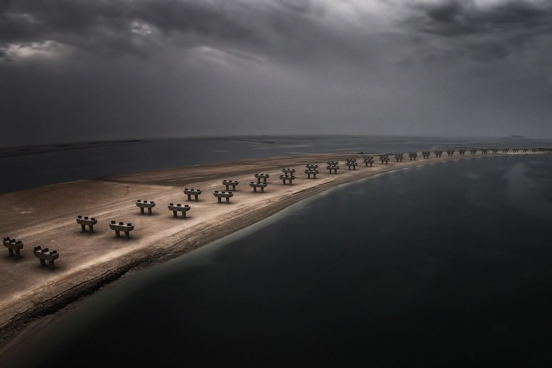 Credit: #SkyPixel user Rob W for capturing the mood of an unfinished road across Palm Jebel Ali