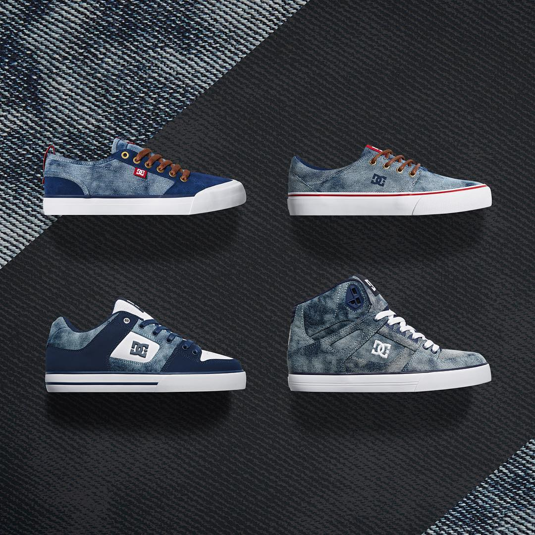 Head back to the 90's with our new Acid Washed Indigo Collection. Taking cues from the early 90's, the collection features a unique acid washed denim with rich navy and classic red accents. dcshoes.com/acidwashedindigo. #dcshoes