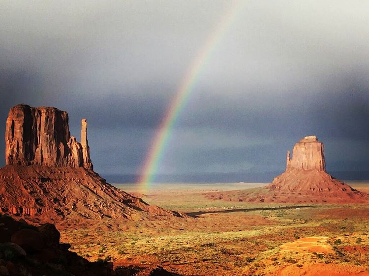 Sometimes you get lucky and are in the right place at the right time! #rainbows #getoutside #xplorewild #adventure #utah #graniterocx #outdoorsrocx