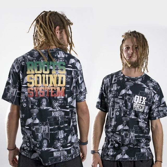 Camiseta QIX Roots Print - Sound System: A mistura do lifestyle da cultura rasta com a originalidade Roots Culture