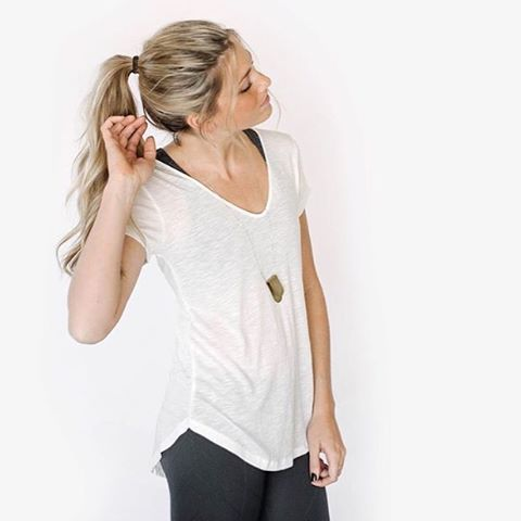 You can never go wrong with a white basic tee #comfy #casual #basictee #style #fashion #sustainable