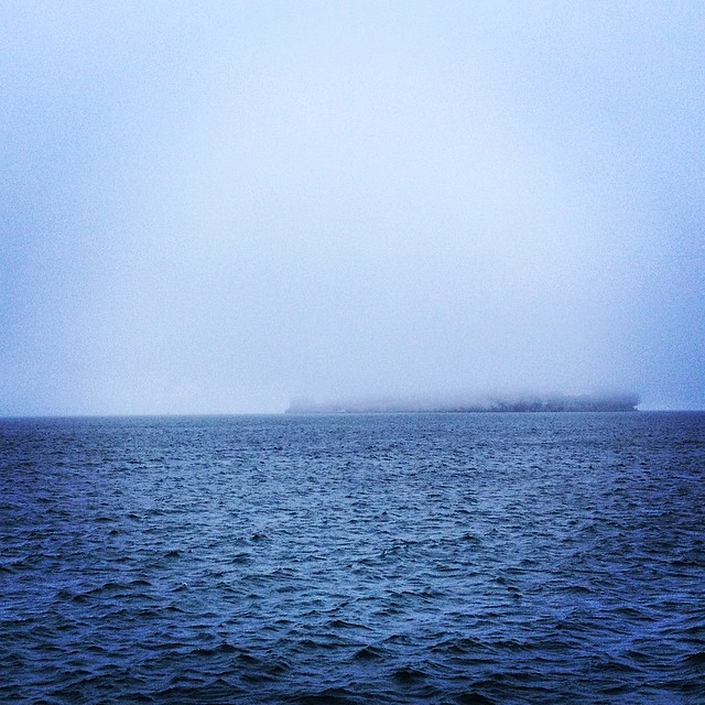 Into the grey #alcatraz #sanfrancisco #karlthefog #whitewall #fog