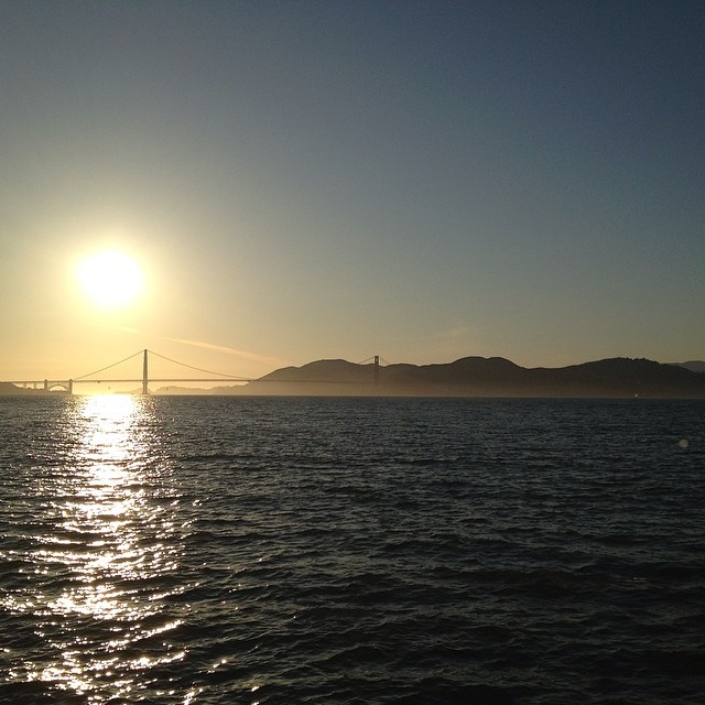 Well isn't this evening perfection #californialiving #sanfrancisco #sunset #happy