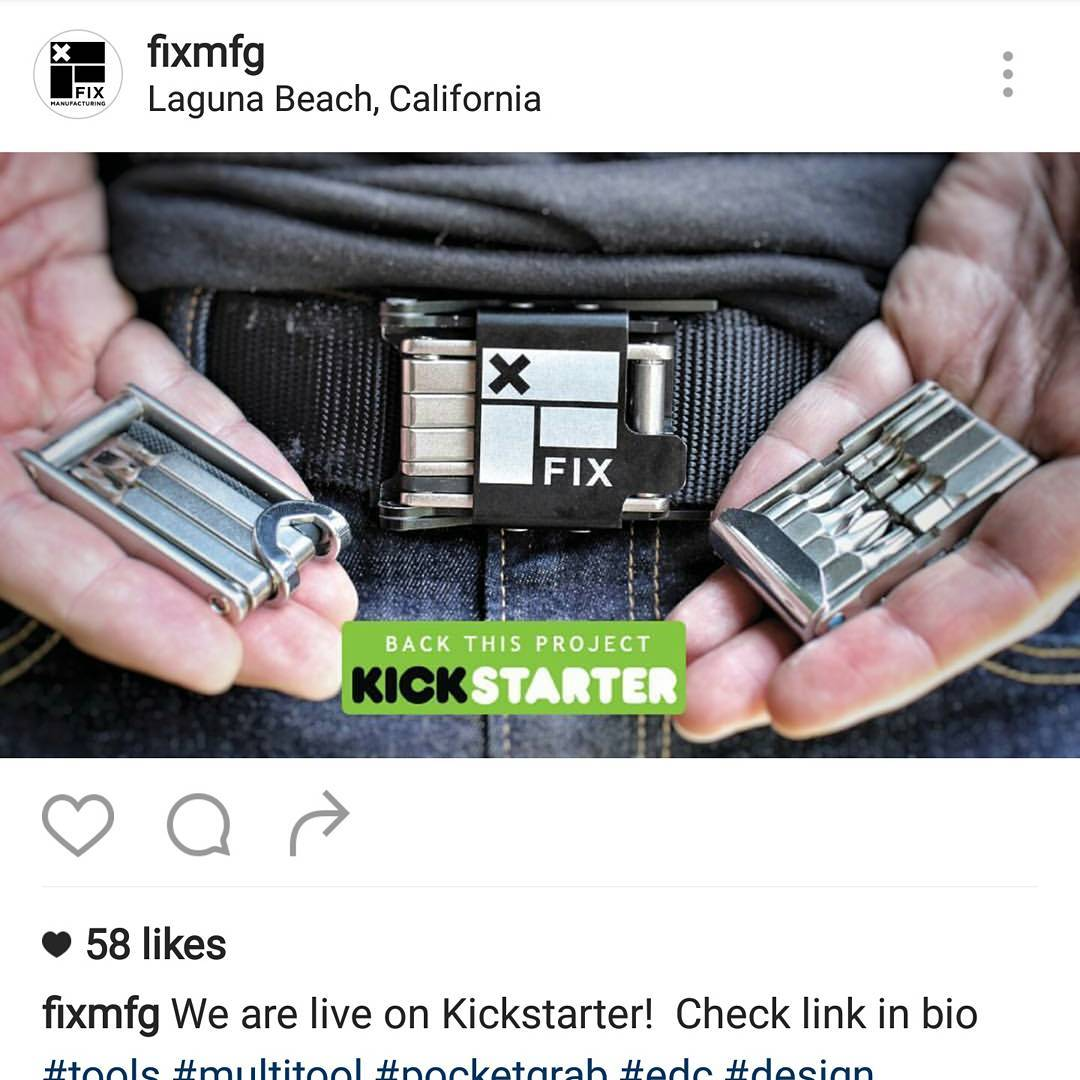 Go check out the @fixmfg multi-tool. Back them on Kickstarter.  This stuff is  AWESOME.