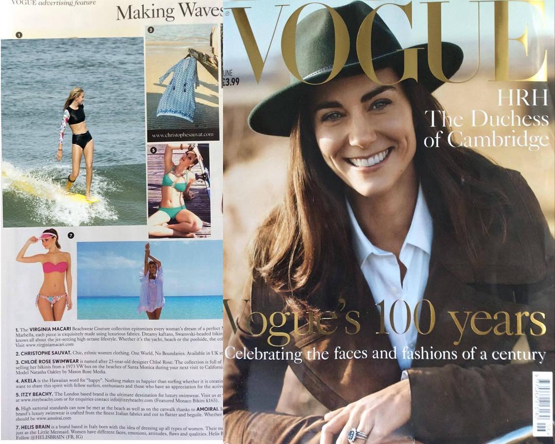 #AkelaSurf Making Waves in @voguemagazine #vogue100 #voguemagazine model @jodieburkie