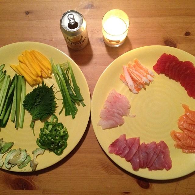 Sushi Prep #colorsoftherainbow #sushinight #sashimi #nomnom