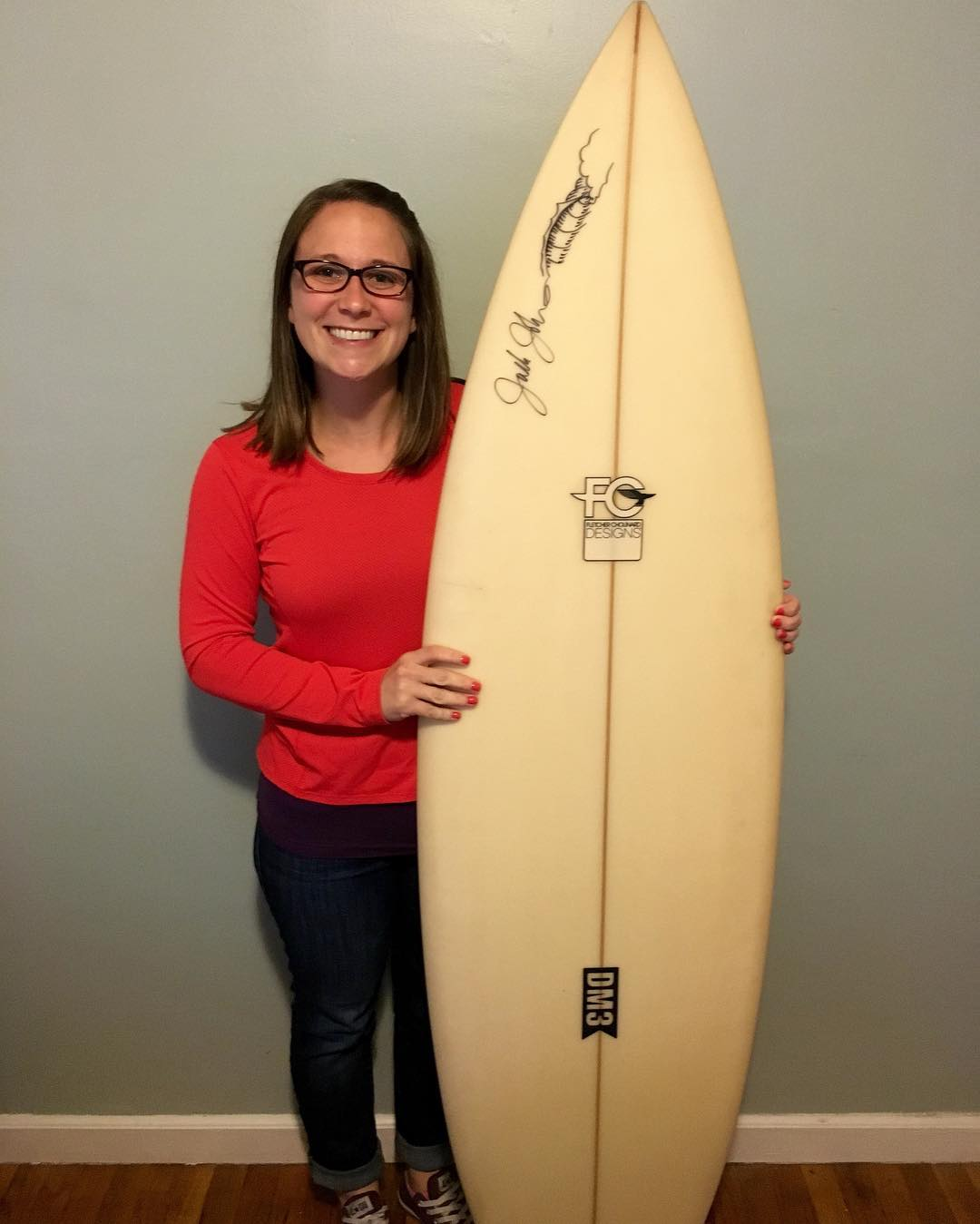 Congrats to Melissa Carlin of Portland, Oregon! Melissa was selected from our 2015 BLUE CREW supporters as the winner of a @fcdsurfboards signed by musician and @1percentftp Ambassador @jackjohnson!