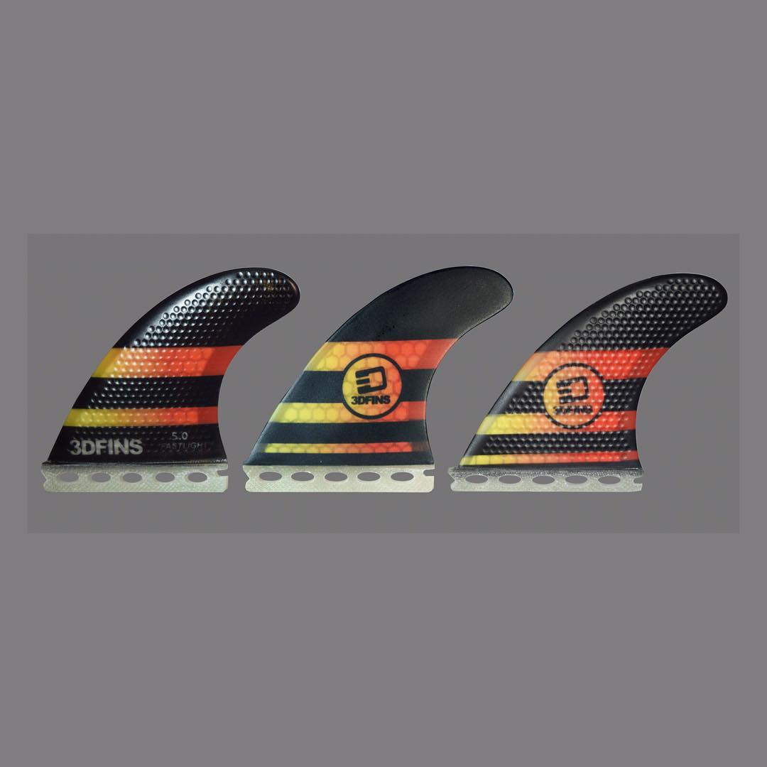 The New FastLights 5.0.  Available in Twintab or Flatbase Online Now 3dfins.com or at your local surfshop.  #faster #lighter #morespeed #moredrive.