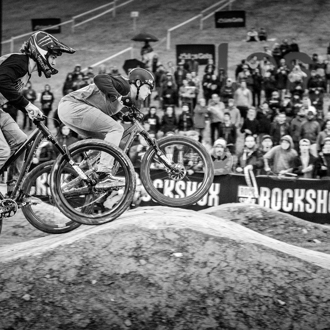 Rad to see Lyle in action on the pumptrack yesterday ... #Crankworx #LesGets #SixSixOne #661Protection #ProtectFun Photo - AgenceKros / Remi Fabregue @remgap05