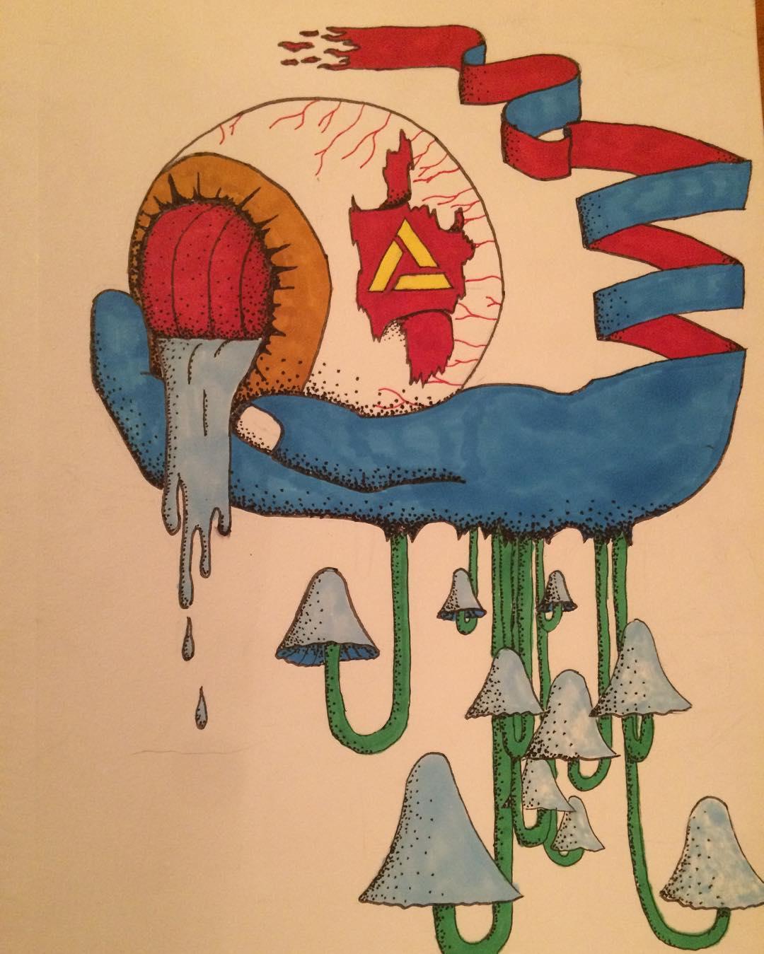 Rad art piece from our high school homie Seren Bowen #academykidsrule #academyartprojects @s.p.a.c.e.walker @__shookone__