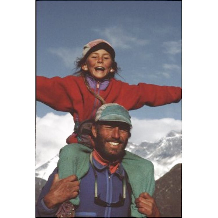 Happy Father's Day to my hero! This is me and my papa when I was 7 years old and he decided it was about time we climbed Mt. Everest