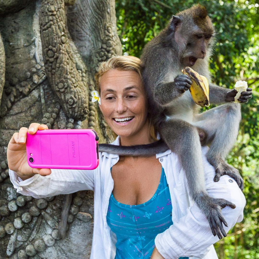 The classic look when you are monkeying around and you loose half your banana while taking a selfie