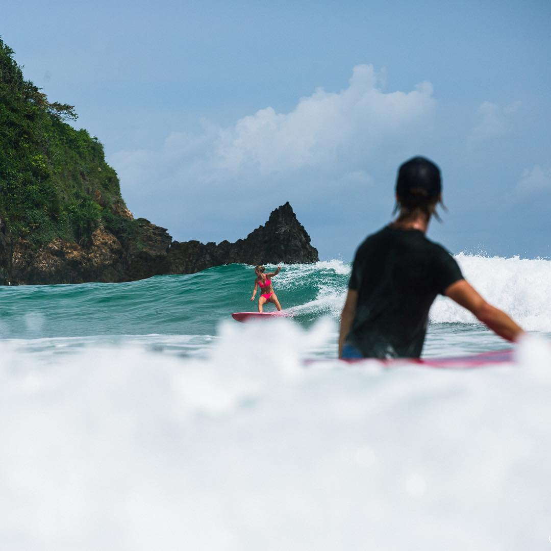 Dropping into Red Island, Java Indonesia with @mojosurf_au! Up next beach cleanup with the village and #mojosurf!