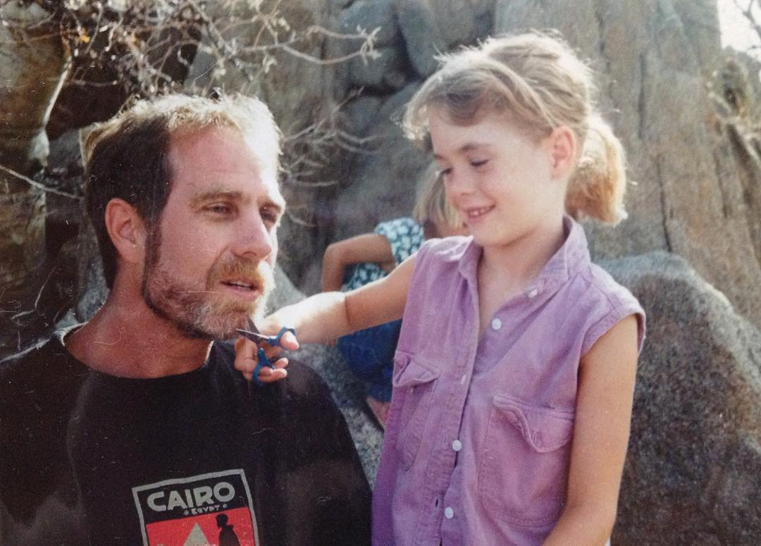 Dad and sister, winter in Baja 1994-ish. Thanks for raising us on the road, letting us sleep in the Land Cruiser, taking us climbing (before the days of harnesses) and always pulling cholla out of our ankles with pliers. Photo by Mum.