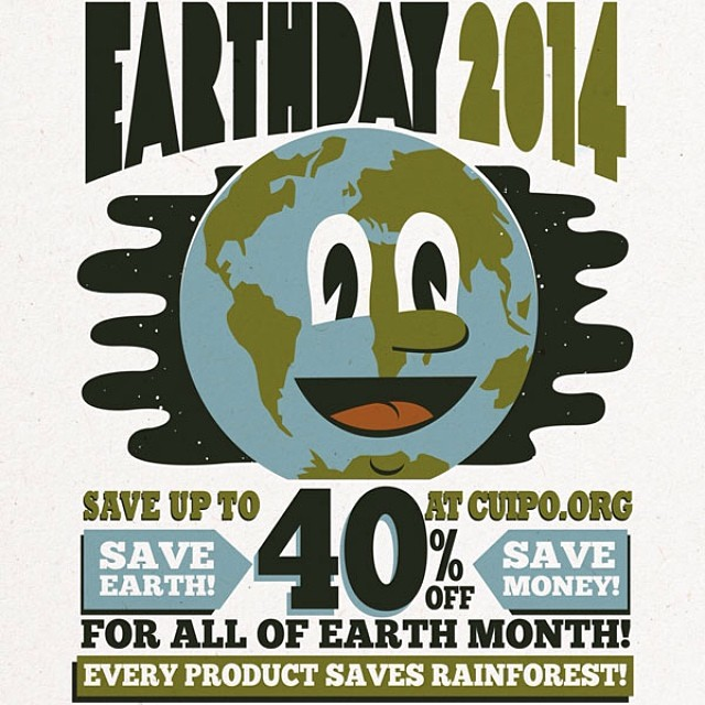 Happy Earth day everyone. Go to Cuipo.org and save up to 40% off till the end of the month!!!! Please share this with friends to help Cuipo stop deforestation. #cuipo #earthday #saverainforest