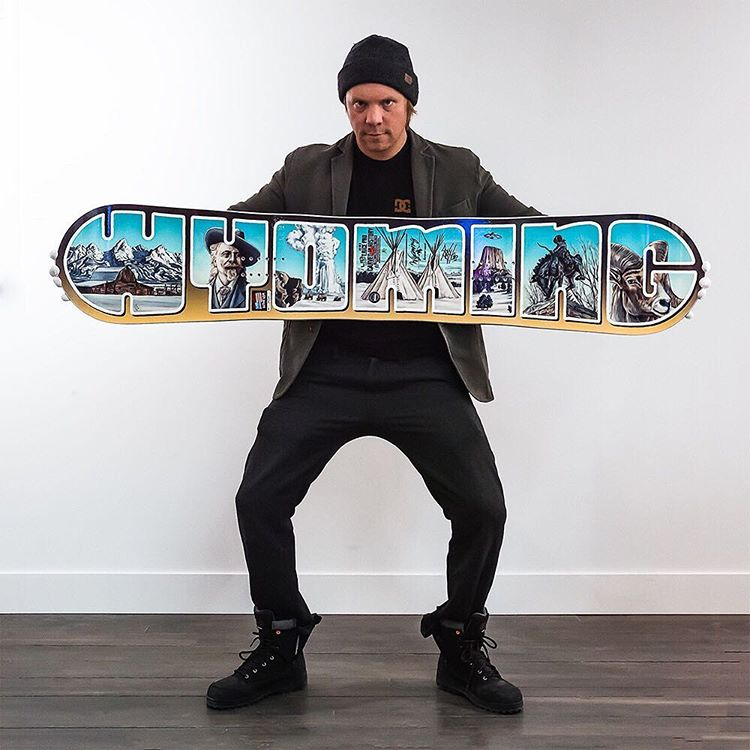 Wyoming local and rad dad @jhtim designed this Wyoming graphic for the @travisrice x @libtechnologies limited edition board. The print is one of the many super items on our Dads Day gift guide. Show dad how country he is! Link in profile. #dadsday...
