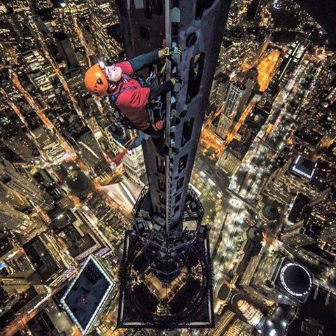 "@jimmy_chin sending 1 World Trade Center with Jamison Walsh for the New York Times..."" You get that very visceral experience of feeling insignificant. It was really just beautiful...and almost lonely. I think that's what makes it special."" Go on the..."