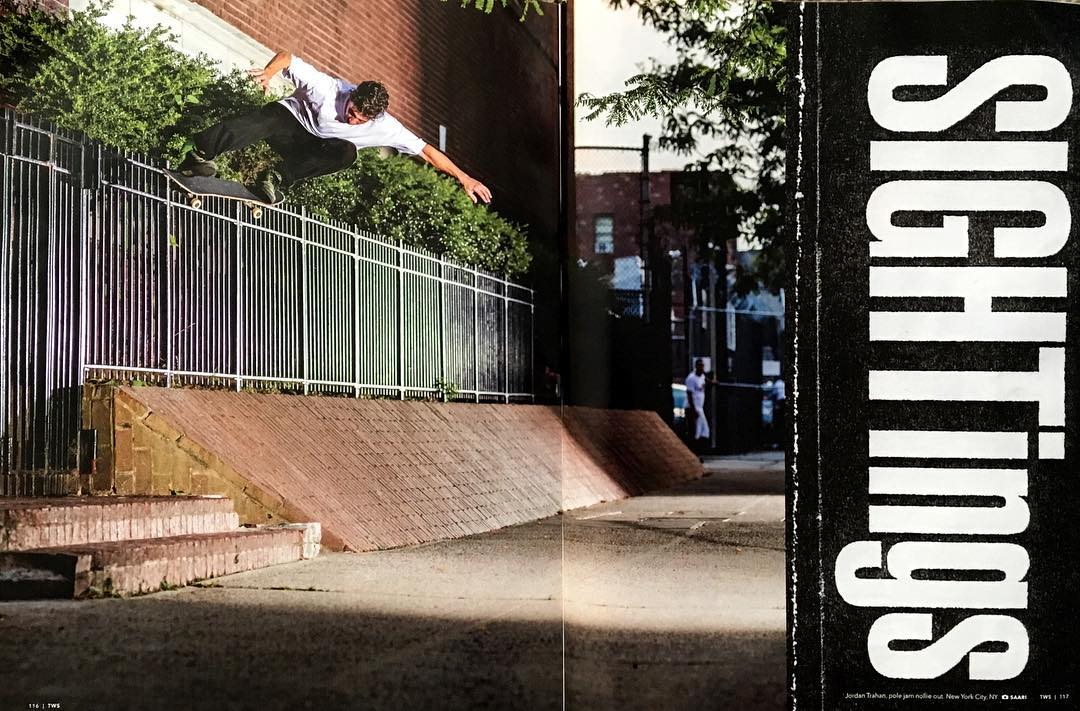 Jam up, nollie out. @trahanana shot by @artofoto as seen in the new @transworldskate magazine and @volcom flick