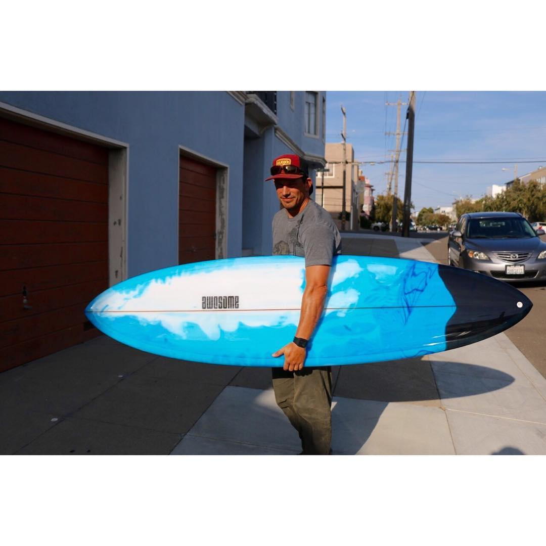 Custom Pinster for Russel. 4 fin plus Single Fin, Custom bottom contour  7'2 x 21 5/8 x 2 3/4 – 46.9L, Amazing resin tint by Pureglass @pureglassinc