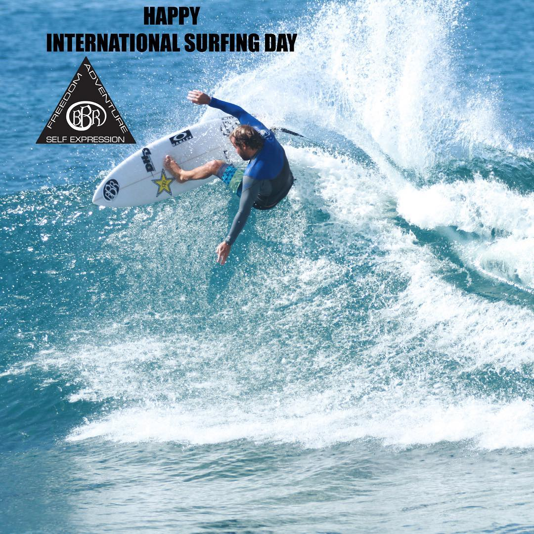 Happy International Surfing Day from all of us at BBR!  #bbr #bbrsurf #bbrsurfwear #buccaneerboardriders #freedome #adventure #selfexpression #internationalsurfingday #june20 #grangerlarsen #teamrider