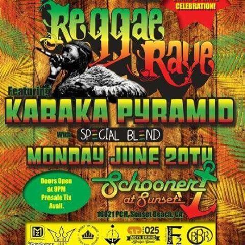 Come see Kabaka Pyramid at the Schooner in Sunset Beach.  This is brought to you by the Zone Surf Shop in Sunset Beach.  Go to the Zone for tickets 16783 Pacific Coast Highway Sunset Beach, CA.  Say hey to Dave of DMZ Surfboards and...