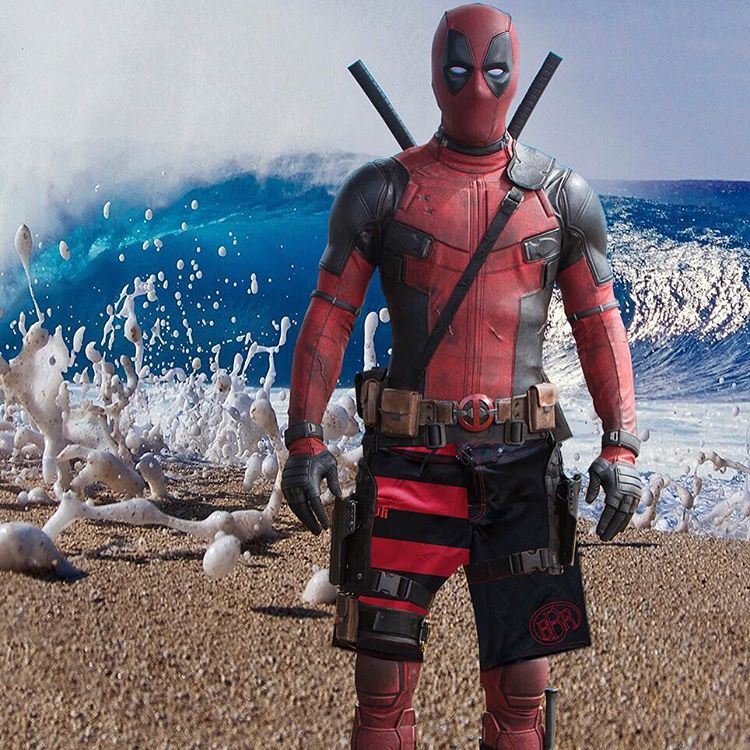 Lovin Deadpool rockin the Buccaneer style Boardshorts. The only way to battle the surf!  #bbr #bbrsurf #bbrsurfwear #buccaneerboardriders #deadpool #ryanreynolds