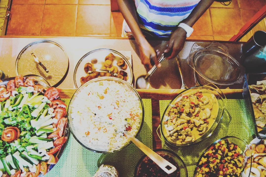 Dinner is served! Healthy eats and treats at the Bodhi Surf Lodge
