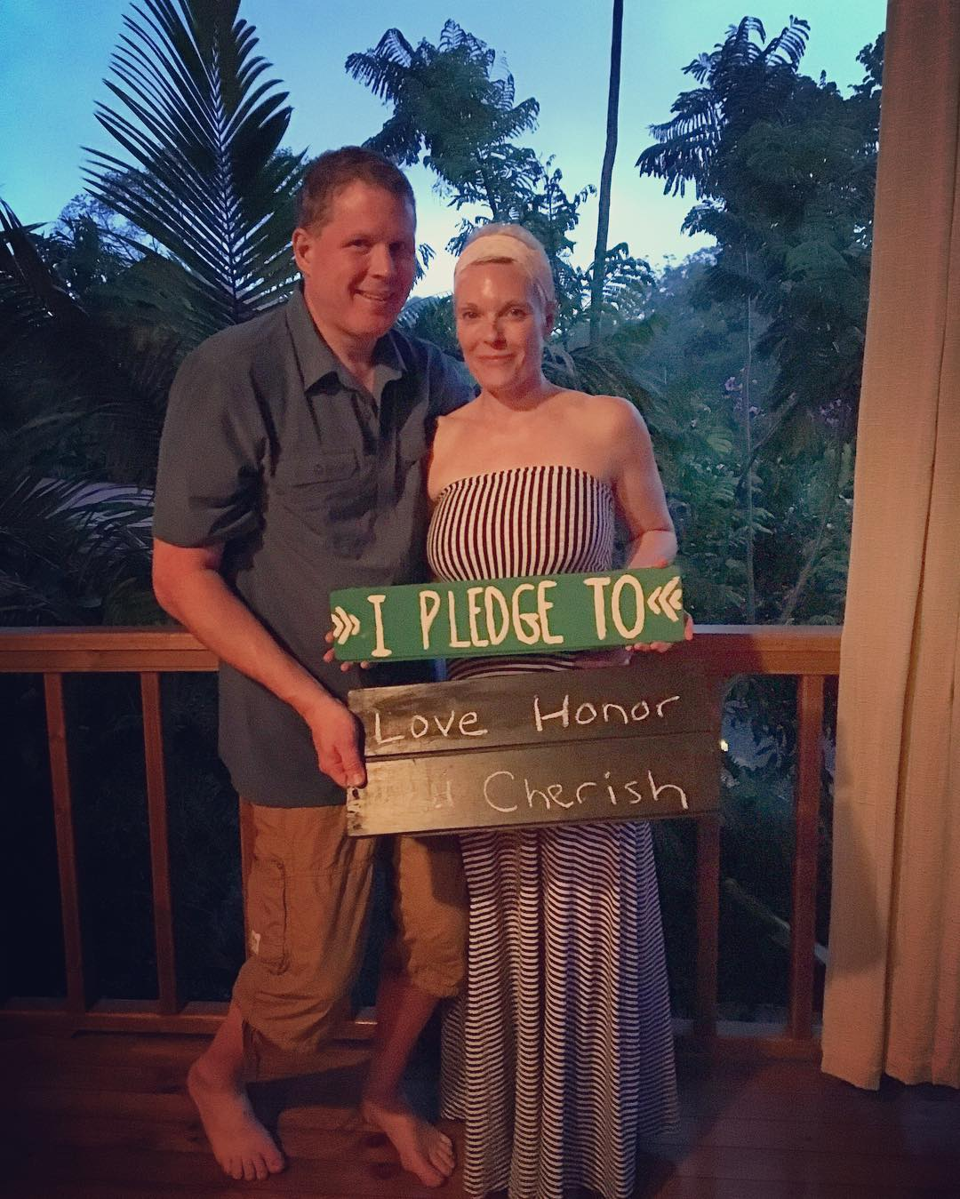 Last night, we helped our guests and new friends, Stacey and Ward from Minnesota, in renewing their wedding vows for their 25th anniversary. What an inspiration, and what a way to end a wonderful week of surfing and yoga in Costa Rica! Congrats you...