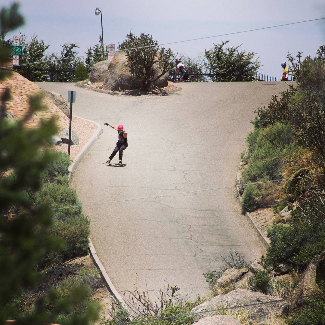 Team rider Sean Stratmeyer--@kurkylurk666 sliding a steep hill on the Da Kine!