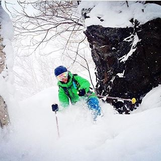 Team rider @paomad getting the last of the pow in Hokkaido, Japan. #pow #outdoors #outside