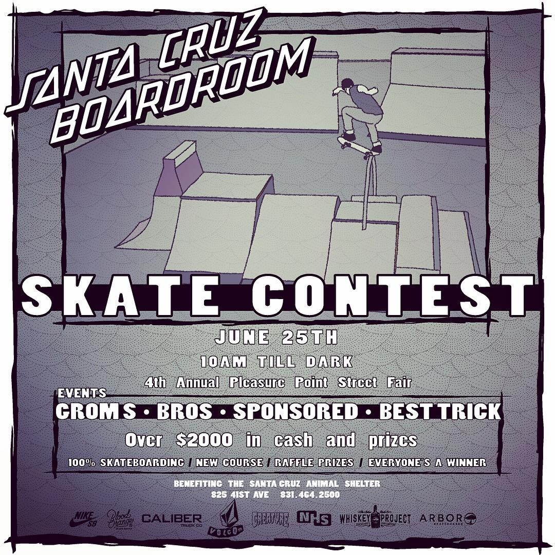 SKATE CONTEST - JUNE 25TH @scboardroom