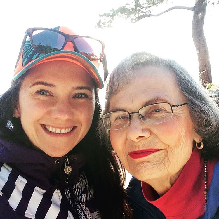 Sunday fun day! Hanging with the most beautiful woman, my grandma still doing amazing at 87! Hoping to be as healthy and happy as she is at any age! #lifeisgood #laketahoe