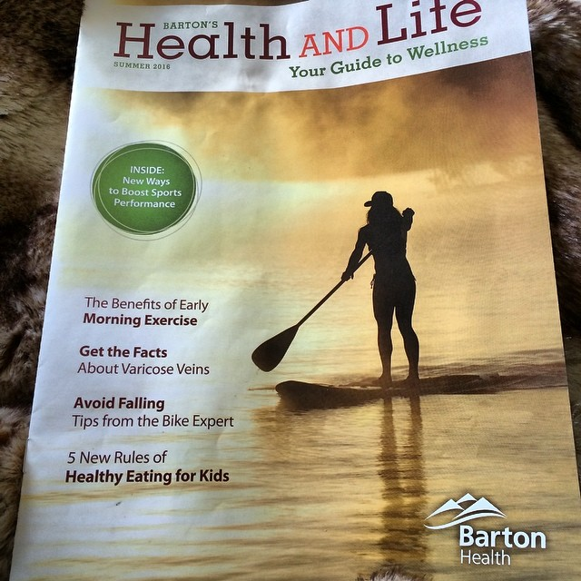 Pretty ironic that the week I was in  Barton hospital I ended up on the front page of the Barton Hospital health magazine. #alittletoironic #happyhealing #longroadahead #chinup @tahoesup @epicbar @oakleysnowboarding #oakleynorcal @kirkwoodmtn @avalon7...