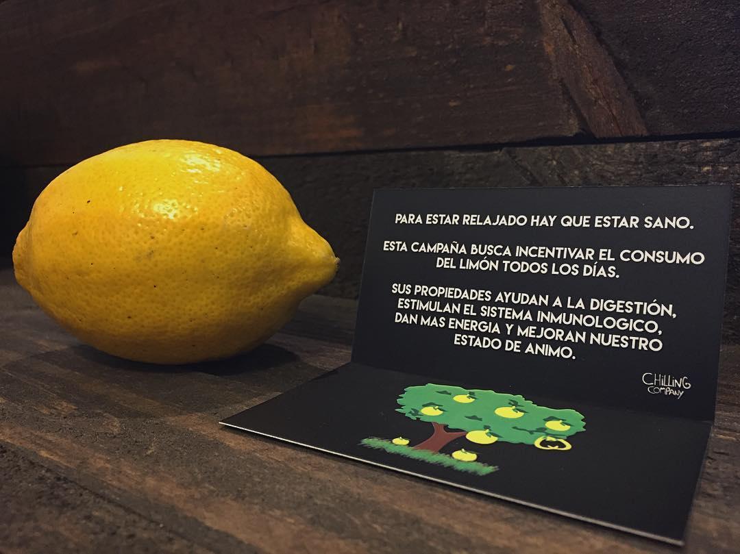 Con la compra de cualquier producto Chilling te regalamos un limón!  Con esta nueva iniciativa buscamos incentivar el consumo de este cítrico todos los días. Sus propiedades refuerzan nuestro sistema inmunológico, reducen la acidez, equilibran nuestro...