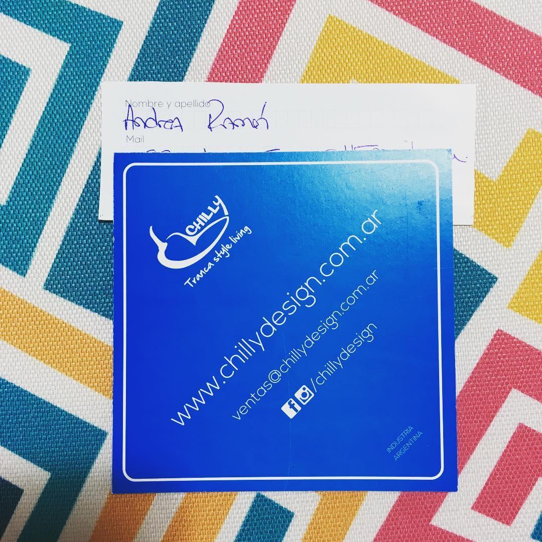 Felicitamos a Andrea Ramón!! Ganadora del sorteo de la Feria Puro Diseño!! Te ganaste 2 reposeras Chilly estampadas! Para ver el video del sorteo entra en nuestro facebook! www.facebook.com/chillydesign